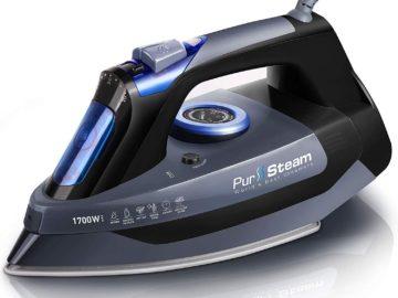 pursteam professional grade 1700w steam iron