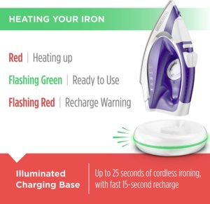 Black and Decker Light and Go Cordless Iron charging base
