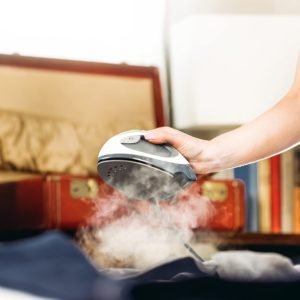 Mini Steam Iron with Dual Voltage, Travel Bag, Rapid Heating, 1000 Watts