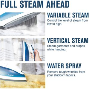 variable steam and iron options