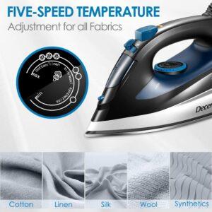 Decen Steam Iron Temperature settings