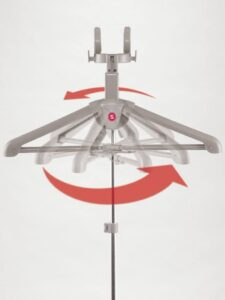 360 degree rotating hanger