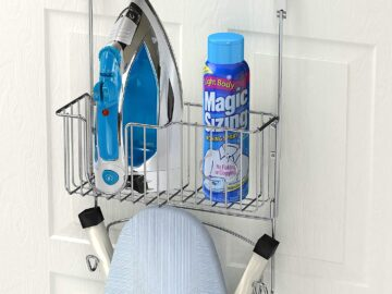 Simple Houseware Over-The-Door Ironing Board Holder
