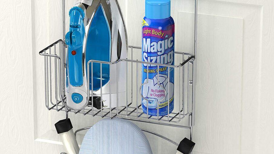 Simple Houseware Over-The-Door Ironing Board Holder