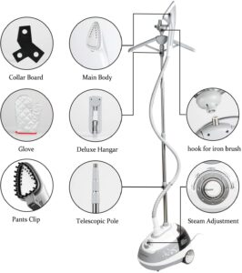 features of the Minetom Heavy duty clothes steamer
