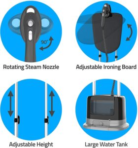 features of the Pursteam Professional Series Garment Steamer