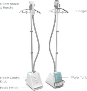 features of the puresteam full size garment steamer