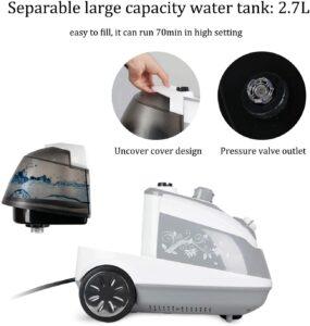 large 2.7 liter water capacity tank