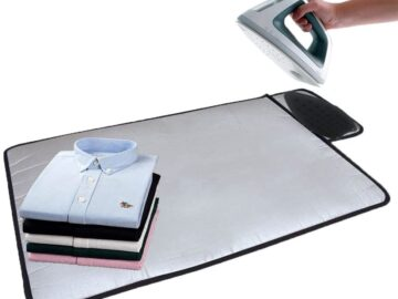 HOMILA Portable Ironing Mat with Silicone Pad