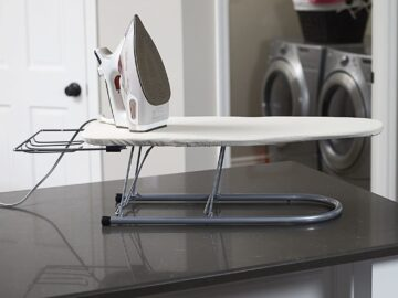 Best Small Steel Table Top Ironing Board with Iron Rest