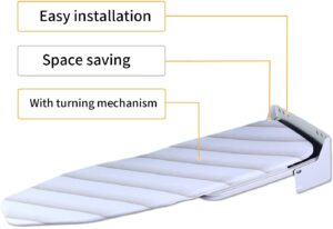 easy installation and space saving ironing board