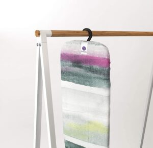 The Brabantia Table Top Ironing Board retractable hook